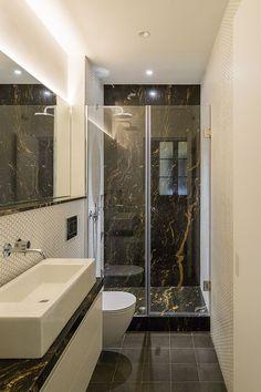 Bathroom Layout, Modern Bathroom Design, Bathroom Interior Design, Bathroom Cabinets, Bathroom Designs, Bathroom Vanities, Apartment Renovation, Apartment Design, Bad Inspiration