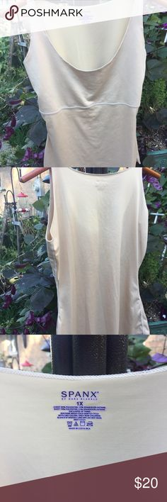 Spans Undergarment Top Beige new without tags top undergarment. Sleeveless. Chest: 90% polyester, 10% spandex and Body: 79% Polyester 21% Spandex. Wash warm line dry. SPANX Intimates & Sleepwear Shapewear