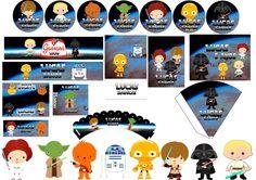 Kit Festa Digital - Star wars Kids