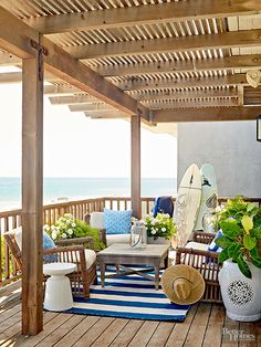 Spice up your patio or deck with these beautifully elegant ideas for outdoor living. We have an inspiring gallery full of beautiful outdoor spaces that include areas for relaxing and entertaining. See how to flawlessly add outdoor decor, furniture, tables and a few flowers to make your backyard a relaxing space.