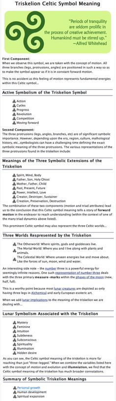 Celtic Triskelion Symbol meaning (just got a bracelet with one of these symbols on it, so I had to find out what it means)