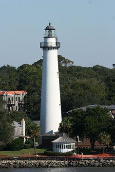 Brunswick, GA - Lighthouse.  UGH, I have climbed it and my knees were quite vengeful.