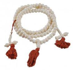 White Yak Bone Mala with Mala Counters