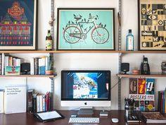 Trendy Home Office Creative Workspace Storage Ideas Workspaces Design, Home Office Design, House Design, Type Design, Office Designs, Studio Design, Interior Exterior, Interior Design, Interior Paint
