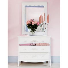 Commode blanche ivoire CHARLOTTE