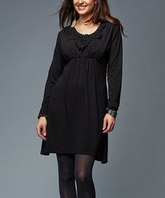 Love this Black Carrie Maternity/Nursing Tunic by LOVE MILK on #zulily! #zulilyfinds