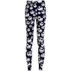 Womens White Stylish Skull Printed Skeleton Leggings Black ($11) ❤ liked on Polyvore featuring pants, leggings, black, skeleton leggings, black pants, skull pants, black leggings and black white pants