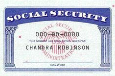 Pin On Social Security Card