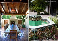 Spanish Malibu Tile fountain.  Maraya Interior Design