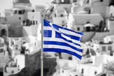 Greek Flag Blue and white! Symbolizing the colors of the famed Greek blue sky and sea combined with the white clouds and waves. Mykonos, Santorini, Love Photos, Cool Pictures, Beautiful Pictures, Learn Greek, Greek Flag, Greek House, Greek Life