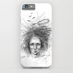 #phonecases #sketch #graphic #woman #blackandwhite