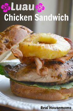 Luau Chicken Sandwich | Real Housemoms | Perfect Summer Dinner