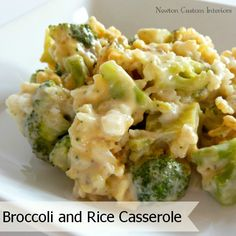 Broccoli and Rice Casserole recipe from NewtonCustomInteriors.com #recipe #broccoliandrice #casserole