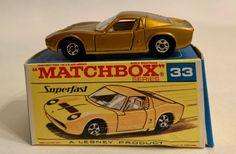 MATCHBOX SUPERFAST LAMBORGHINI MIURA NO. 33 WITH ORIGINAL BOX #Matchbox #Lamborghini