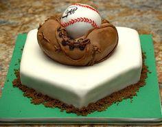 Baseball Cake - Autographed basball cakelett on top of a sculpted glove on homeplate. Baseball Glove Cake, Baseball Cakes, Beautiful Cakes, Amazing Cakes, Beautiful Kids, Cake Design For Men, Pinterest Cake, Specialty Cakes, Cakes For Boys