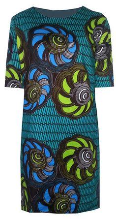 BELLA AFRICAN PRINT SHIFT DRESS