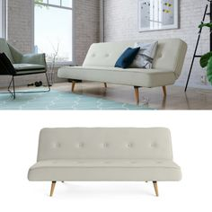 subtle button detailing and matching piping adorns the slumber 3 seater sofa bed while elegantly