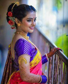 Image may contain: 1 person Marathi Saree, Marathi Bride, Nauvari Saree, Indian Wedding Photographer, Wedding Sutra, Pure Silk Sarees, Indian Beauty, Beautiful Bride, How To Look Pretty