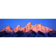 Sunrise on Grand Tetons Grand Teton National Park Wyoming Canvas Art - Panoramic Images (36 x 12)