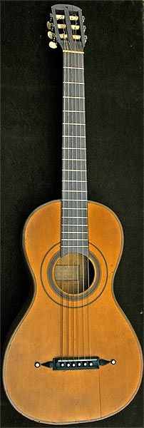 Early Musical Instruments, antique Romantic Guitar by Panormo 1827