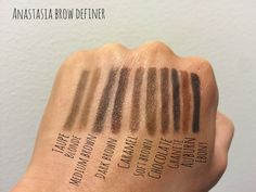 anastasia beverly hills brow definer swatch - Google Search