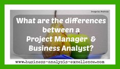differences between project manager and business analyst
