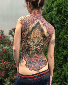 Collab back piece by Russ Abbott and Savannah Colleen, Ink & Dagger Tattoo, Roswell GA Cool Back Tattoos, Back Tattoos For Guys, Great Tattoos, Sexy Tattoos, Beautiful Tattoos, Body Art Tattoos, Tattoos For Women, Backpiece Tattoo, Et Tattoo