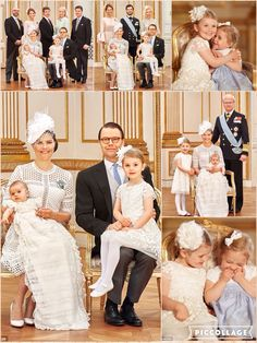 Proud mother Princess Madeleine of Sweden shared adorable snaps of the cousins giggling and hugging on her Facebook page as the pair enjoyed Prince Oscar's christening on Friday. Official portraits of the big day have also been released by the Swedish royal family, showing the young prince with family members including King Carl XVI Gustaf and his uncle Prince Carl Phillip.