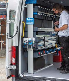 Van Storage, Tool Storage, Van Shelving, Van Racking, Office Floor Plan, Auto Locksmith, Van Design, Cargo Van, Mobile Shop