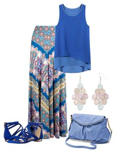 """Summer Maxi"" by najoli ❤ liked on Polyvore featuring Monsoon, Ted Baker, Juicy Couture and Arizona"