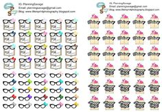 Free Printable Reading & Happy Mail Planner Stickers from Planning Savage