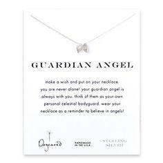 guardian angel, angel wings necklace, sterling silver - Dogeared