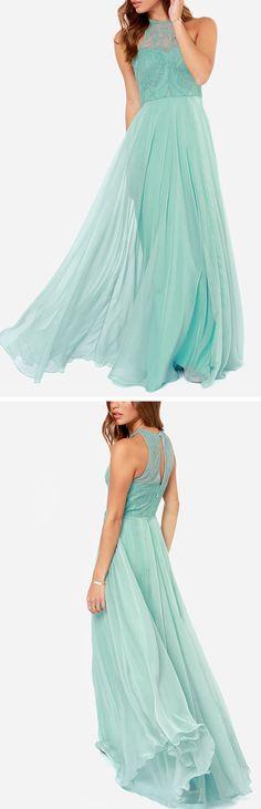 Gorgeous mint gown