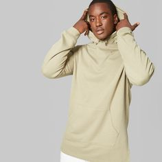 Men's Big & Tall Oversized Hooded Sweatshirt - Original Use Green 3XBT