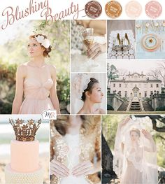 Blushing Beauty Inspiration Board from Magnolia Rouge