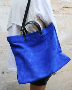 mohawkgeneralstore: The electric blue suede tote by Clare Vivier!