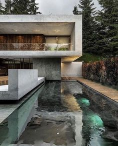 I have pictures of remarkable modern house designs that will inspire you and make you want to live in a contemporary home even more! Get inspired and start working hard and one day all of us will have our own dreamy modern house! Contemporary Architecture, Interior Architecture, Concrete Architecture, Contemporary Design, Future House, Exterior Tradicional, Design Exterior, Architecture Magazines, House Goals