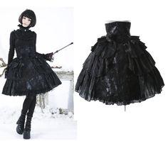 Pyon Pyon Tüll Rock Gothic Princess Rose Punk Rave Skirt Steampunk Lolita LQ28