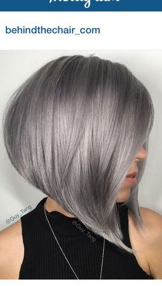 Edgy and intimidating, the silver hair trend has all the cool girl vibes. Here, 17 gray and silver hair inspiration photos that will have you running to your colorist immediately. Short Grey Hair, Short Hair Cuts, Short Hair Styles, Black Hair, Short Silver Hair, Grey Hair Styles For Women, Short Hair Trends, Short Hair Updo, Green Hair