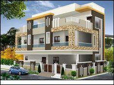 Duplex houses in yapral, hyderabad House Balcony Design, Row House Design, Single Floor House Design, Simple House Design, Bungalow House Design, Duplex House, Modern House Design, Modern Houses, Bungalow Exterior
