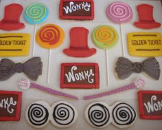 Willy Wonka Cookies - Willy Wonka Birthday