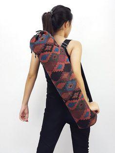 Handmade Yoga Mat Bag Yoga Bag Sports Bags Tote Yoga Sling bag Pilates Bag Pilates Mat Bag Woven Cotton bag (WF72)