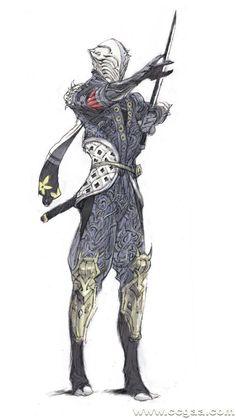 by grandia lee Fantasy Character Design, Character Design Inspiration, Character Concept, Character Art, Armor Concept, Concept Art, Character Illustration, Illustration Art, Arte Ninja
