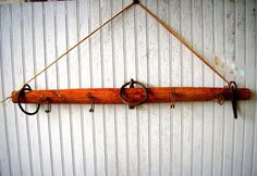 Antique Horse Yoke Upcycled Into A Hanging Rack by VintageHomeShop