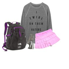 """I twirl on them haters"" by ava-lindsey ❤ liked on Polyvore featuring NIKE, The North Face and lululemon"