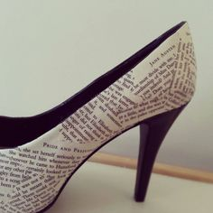 Pride and Prejudice shoes. Classics in more ways than one