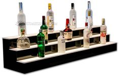 60 Liquor Shelves with LED Lighting Free Shipping by BarShelves