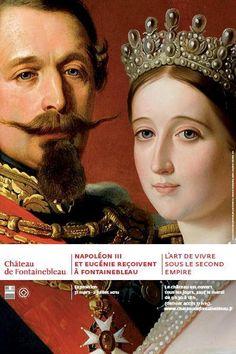 Affiche de l'exposition Napoléon III et Eugénie reçoivent à Fontainebleau