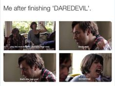 Currently having Marvel's #Daredevil withdrawals...