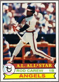 1979 Topps Rod Carew, California Angels, Baseball Cards That Never Were.